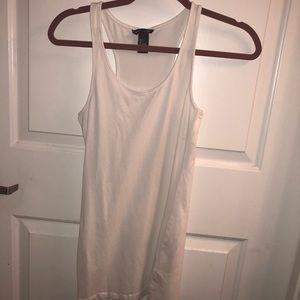 White Summery Tank Shirt-Dress